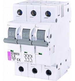 Automatski osigurač 2A 3-polni 6 kA C Eti