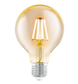 Sijalica LED E27 Edison Amber 4W G80 2200K Eglo 11556