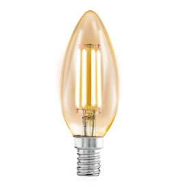 Sijalica LED E14 C35 sveća Edison Amber 4W 2200K Eglo 11557