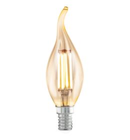 Sijalica LED E14 CF35 sveća Edison Amber DECO 4W 2200K Eglo 11559