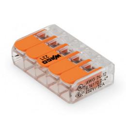 WAGO spojnica utična 5 x 0,2 - 4mm² sa polugom