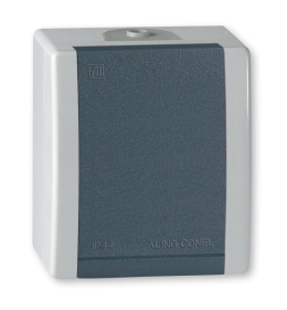Priključnica dvopolona za na zid IP44 sivi Aling 2411.1A