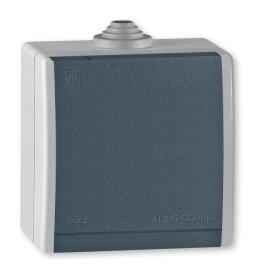 Priključnica tropolna za na zid IP44 sivi Aling 243.1A
