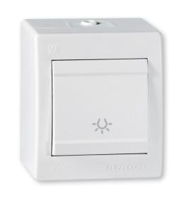 Taster sklopka za svetlo za na zid IP44 beli Aling 255.00