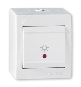 Taster sklopka za svetlo za na zid IP44 beli Aling 255I.00