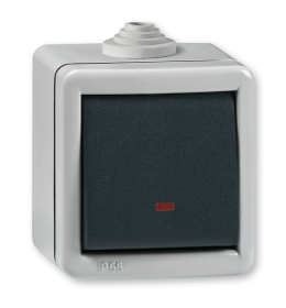 Sklopka ukrsna sa indikacijom za na zid IP55 2841.1A Aling