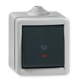Taster sklopka za svetlo sa indikacijom za na zid IP55 285I.1A Aling