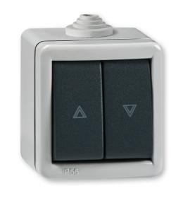 Taster sklopka za roletne za na zid IP55 287.1A Aling