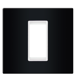 Okvir 1M crna sa belim nosačem Aling EXP