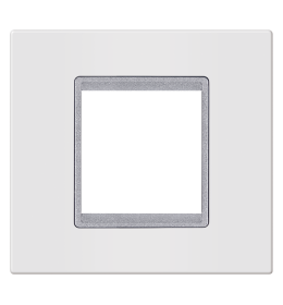 Okvir 2M bela sa silver nosačem Aling EXP