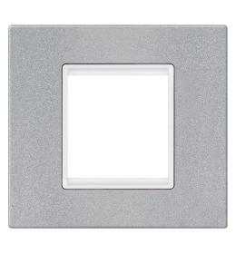 Okvir 2M silver sa belim nosačem Aling EXP