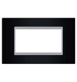 Okvir 4M crna sa silver nosačem Aling EXP