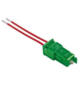 Tinjalica LED zelena sa provodnicima 230V Aling EXP