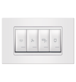 Indikator za kupatilo 4M horizontalno bela Aling EXP