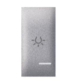Tipka 1M svetlo sa indikacijom silver Aling EXP