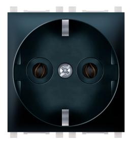 Priključnica 2p 2M šuko crna Aling EXP