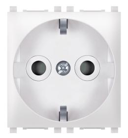 Priključnica 2p 2M šuko sa zaštitom kontakata bela Aling EXP