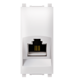 Priključnica telefonska 1M RJ12 bela 6/4 Aling EXP
