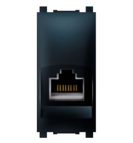 Priključnica računarska RJ45 1M CAT5e UTP crna Aling EXP