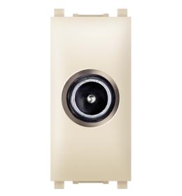 Priključnica TV krajnja bez filtera 1M krem Aling EXP
