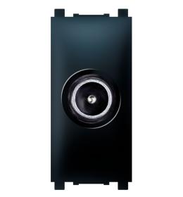 Priključnica TV krajnja bez filtera 1M crna Aling EXP