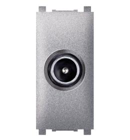 Priključnica TV krajnja bez filtera 1M silver Aling EXP