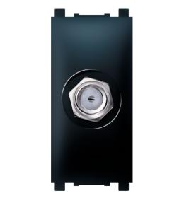 Priključnica SAT krajnja bez filtera 1M crna Aling EXP