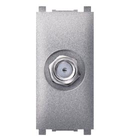 Priključnica SAT krajnja bez filtera 1M silver Aling EXP