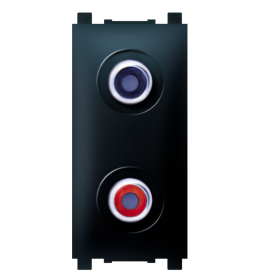 Priključnica audio 1M 2xRCA crna Aling EXP