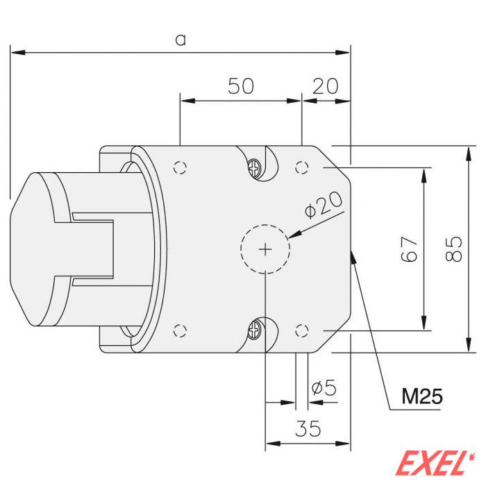 Industrijska utičnica 32A/5p nadgradna  PCE