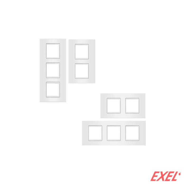 Maska 3X2M EXP BASIC, vertikalna, bela sa belim nosačem