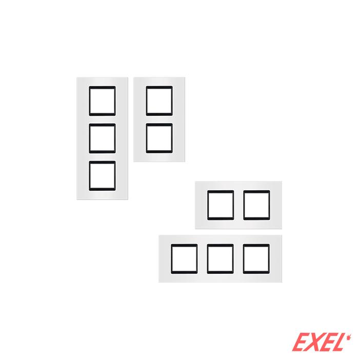 Maska 2X2M EXP BASIC, vertikalna, bela sa crnim nosačem