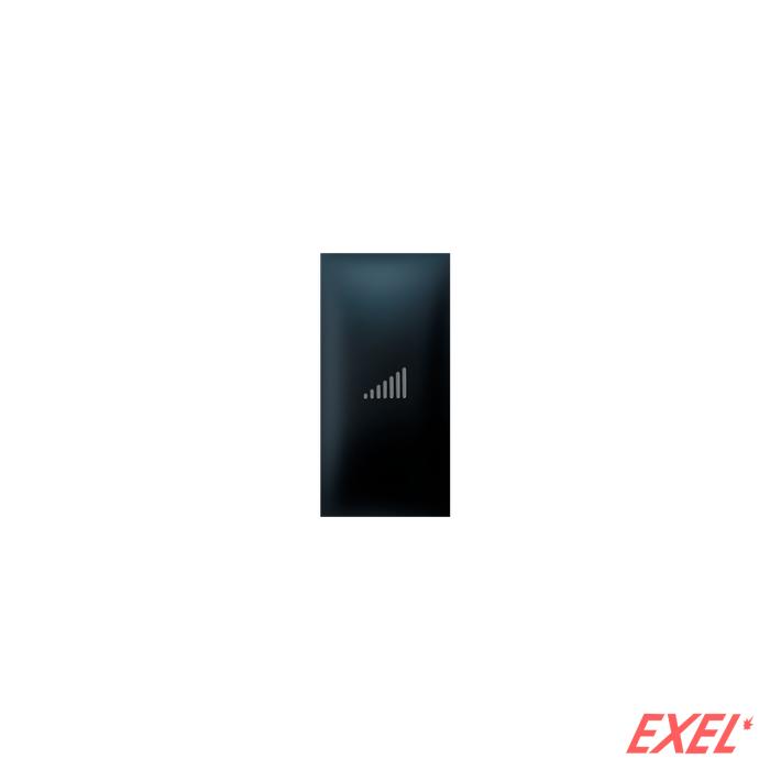 Taster EXP 1M sa oznakom pojačavanja, crni soft