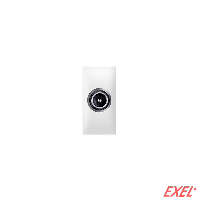 Priključnica antenska TV IEC prolazna 10dB EXP 1M, bela
