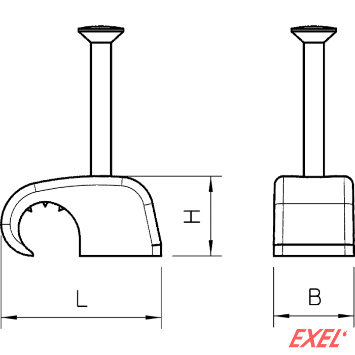Hvataljka, svetlo siva 7-12 mm OBO