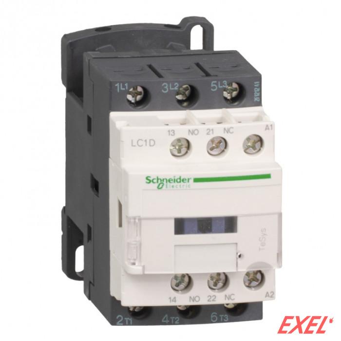 Kontaktor LC1D18D7 18A/3p 42VAC 1NO+1NC Schneider