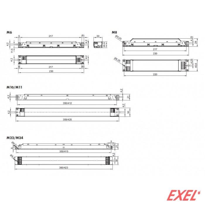 Prigušnica elektronska T8 1/2x36W 188137 Vossloh Schwabe