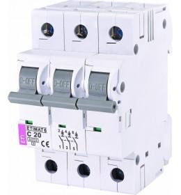 Automatski osigurač 20A 3-polni 6 kA C Eti