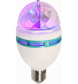 LED BULB PLASTIC WHITE, 1XE27 LED GLOBO