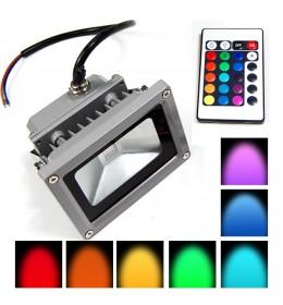 LED reflektor 10W RGB siva Brilum