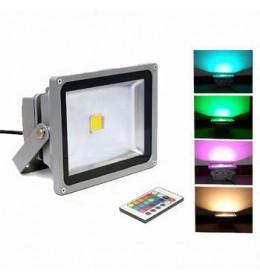 LED reflektor 20W RGB siva Brilum