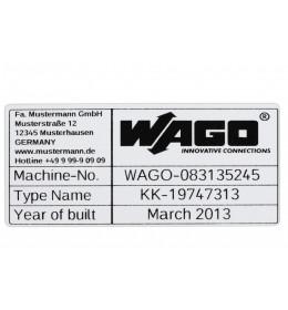 Natpisna ploča samolepljiva 44x99mm siva WAGO (500 kom)