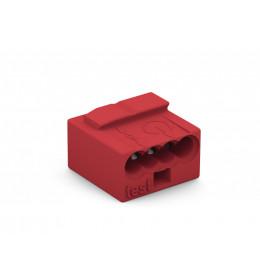Spojnica utična 4x0,6-0,8mm2 BUS-KNX crvena WAGO