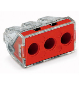 Spojnica utična 3x2,5-6mm2 crvena WAGO