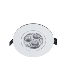 LED SPOT LAMPA PLASTIČNA OKRUGLA 3W GU10 2700K BELA ELMARK