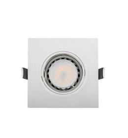 LED PLASTIČNA KVADRATNA SPOTLAMPA PAR 16 5.5W 2700-3000K BELA ELMARK