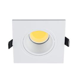 LED PLASTIČNA KVADRATNA SPOTLAMPA COB 7W 4000-4300K BELA ELMARK