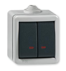 Sklopka serijska sa indikacijom za na zid IP55 2821.1A Aling