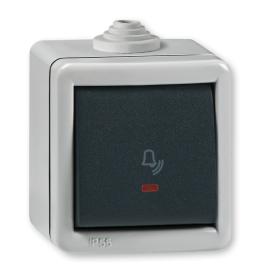 Taster sklpka za zvono sa indikacijom za na zid IP55 286I.1A Aling