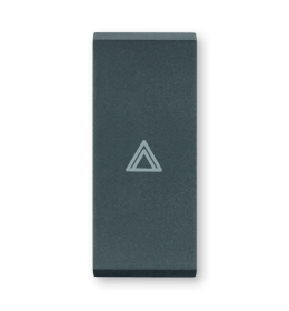 Taster za sklopke jednostruki - Antracit sa oznakom strelica gore